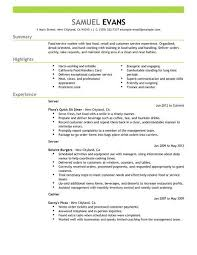 Fast Food Resume Examples Examples Of Resumes