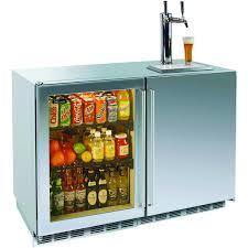 ft outdoor refrigerator dual tap kegerator glass left door
