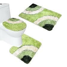 3 piece bathroom rug sets microfiber bath mat set pedestal lid toilet cover