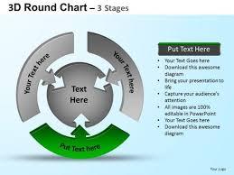 Powerpoint Design Slides Strategy Round Process Flow Chart