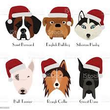 Set Of 6 Dogs Head Pets Cute Doggies ...