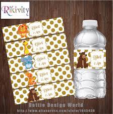 <b>20Pcs</b> Gold Polka Dots Annimal Jungle Safari Zoo Water Bottle ...
