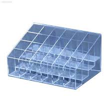24 clear acrylic makeup cosmetic lipstick holder display case box rack stan