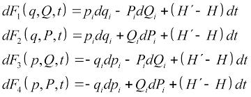 Реферат Теоретическая физика механика ru Канонические преобразования переменных это такие преобразования при которых сохраняется канонический вид уравнений Гамильтона Преобразования производят