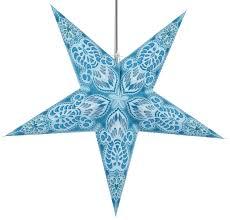 Faltbarer Advents Leucht Papierstern Weihnachtsstern 60 Cm Menor Türkis