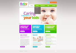 babysitter website templates templatemonster babysitter responsive website template