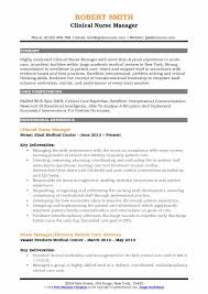 Nurse Manager Resume Classy Clinical Nurse Manager Resume Samples QwikResume