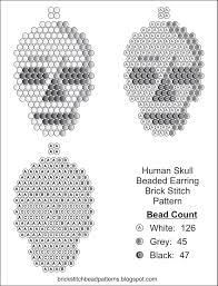 Seed Bead Patterns Mesmerizing Brick Stitch Bead Patterns Journal Human Skull Free Brick Stitch