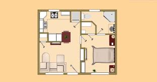 500 square foot apartment floor plans from house plan guest house plans 500 square feet home