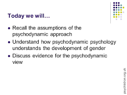 Psychodynamic Approach Today We Will Recall The Assumptions Of The Psychodynamic