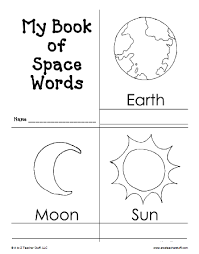Small Picture Planet Earth Printable Outlines and Shape Book Writing Pages A