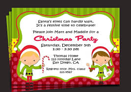 kids christmas party invitation template sample invitations kids christmas party invitation template