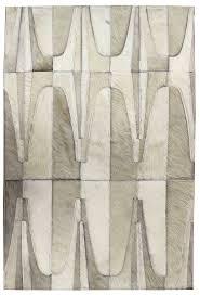 artdeco grey white modern leather area rug jpg