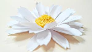 Daisy Paper Flower Chamomile Daisy Paper Flower Diy Tutorial Paper Flowers Easy For Children For Kids For Beginners