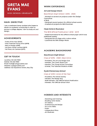 Red Lines Simple High School Resume Templates By Canva
