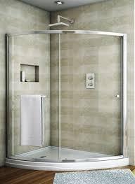 modern sliding glass shower doors. Fleurco Banyo Amalfi Slice Curved Sliding Frameless Shower Door Enclosure EASL66-40488-11-40 Modern Glass Doors L
