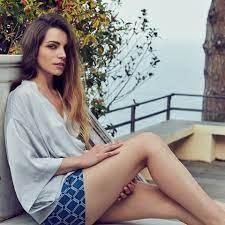 Yamamay - Aurora Ruffino wearing a silk set from San...