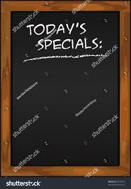 specials menu menu blackboard todays specials chalkboard black stock vector