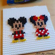 Perler Beads Mickey Mouse Designs Mickey And Minnie Mouse Hama Beads By Art_by_nata_ Hama