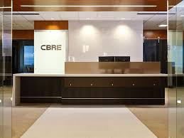 office reception counters. cbre installations 3form reception desk office counters