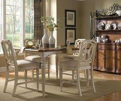 art furniture provenance 5 piece counter height dining set in distressed ivory