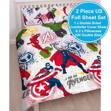 marvel avengers mission uk double us full double sided sheet and pillowcase