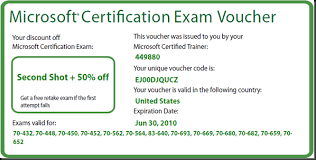 Microsoft Cert Voucher Microsoft Exams Second Shot And 50 Off