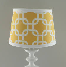 Navy Blue Yellow Gotcha Lamp Shade