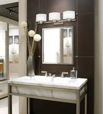 ideas aesthetic bathroom vanity lighting ideas using brushed nickel wall sconce over framed square mirror and