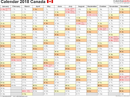 excel 2018 yearly calendar canada calendar 2018 free printable excel templates