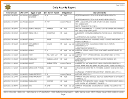 Sales Call Report Sample 24 Daily Activity Report Format Prome So Banko 24