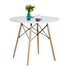 Amazoncom Artwell Kitchen Dining Table Eames Style White Round