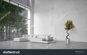Minimalist Living Room Large Modern Minimalist Living Room Interior Stock Illustration