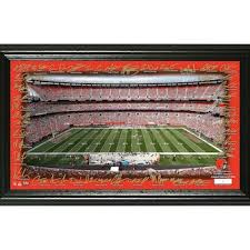 cleveland browns highland mint 12 x 20 signature gridiron panoramic  on cleveland browns wall art with nfl cleveland browns wall art fanatics