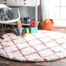 round rug for nursery soft and plush cloudy trellis kids nursery baby pink round rug