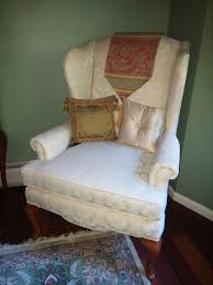 off white upholstered queen anne style wingback chair bradfordfurniture queenannestyle