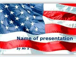 American Flag Powerpoint Waving American Flag Powerpoint Template