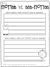Fiction Vs Nonfiction Venn Diagram First Grade Common Core Literature And Informational Text Standards