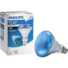 Blue Light Bulbs Walmart Philips 75w 120v Br30 Agro Blue E26 Reflector Plant Growth Light Bulb Walmart Com