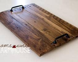 Decorative Wood Serving Trays Decorative wood tray Etsy 2