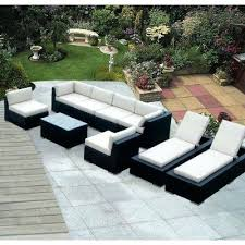 ohana furniture patio lounge set depot 9 piece wicker patio furniture and chaise lounge set ohana