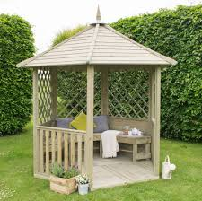 natural wooden garden gazebo designs for your comfy garden shelter ideas