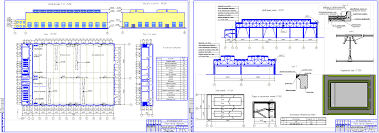 Проект промышленного здания скачать Чертежи РУ Курсовой проект Одноэтажное промышленное здание учебно производственного цеха 54 х 72 м в г