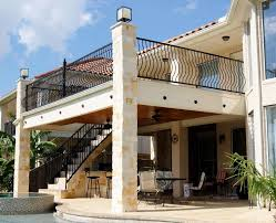 Balcony with Stairs & Kitchen