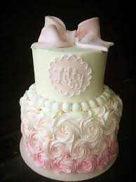 best 25 baby girl cakes ideas on pinterest girl shower cake Baby Girl Cakes baby shower cake ya'll know how much i love to do my rosette baby girl cakes for shower