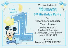 baby mickey mouse invitations birthday baby mickey mouse birthday invitation template aaiiworld org