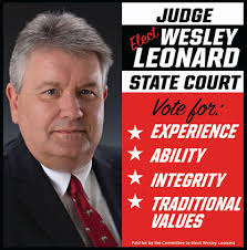 ELECT JUDGE WESLEY LEONARD / STATE COURT... - The LaGrange Daily News |  Facebook