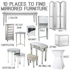 10 sources for mirrored furniture DIY Home Decor