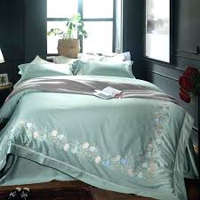 blue king size duvet cover green blue embroidery fl luxury cotton modern bedding set queen king size duvet cover bed blue super king size duvet covers