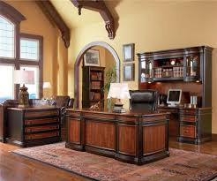 hutch office desk 5. 5 pc home office executive set desk computer with a hutch file cabinet and bookcase